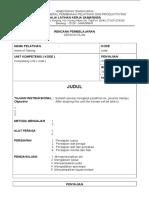 Contoh Sesson Plan (Rpp)