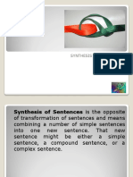 Synthesis of Sentences