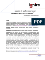 Financiacion Inversiones Obras Publicas R CEA