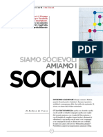 Siamo socievoli amiamo i social - dati Vincos su Sette