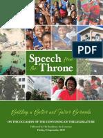 2017 Throne Speech