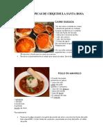 Comida Típicas de Chiquimula Santa Rosa