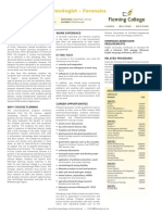 Biotechnology Technologist Forensics