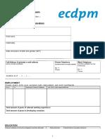 ECDPM Application Form Head of Communications