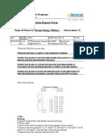 observation report form 5