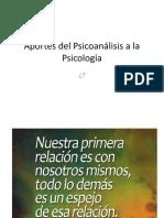 Aportes Del Psicoanálisis a La Psicología