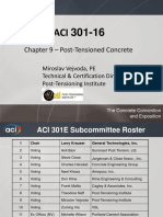 160419 ACI 301 Chapter 9 Post Tensioning Vejvoda
