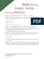 Phy- Physi o - -Physe Phyl