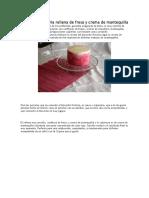 Tarta Victoria Rellena de Fresa y Crema de Mantequilla