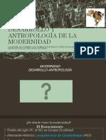 Presentación Antropología y Desarrollo de La Modernidad-glenis Rodríguez