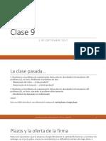 Microeconomía clase 9
