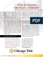 What Title Insurance Covers