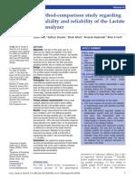A Method-comparison Study Regarding - Lactate