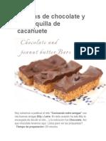 Barritas de Chocolate y Mantequilla de Cacahuete