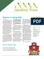 newsletter 9-8-17