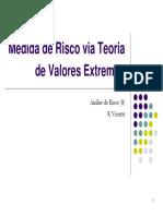 Medida de Risco via Teoria de Valores Extremos