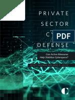 Private Sector Cyber Defense