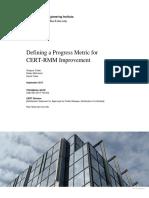 Defining a Progress Metric for CERT-RMM Improvement