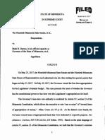 MN Supreme Court Order On Legislature vs Dayton Case