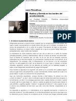 Badiou y Derrida - Acontecimiento