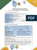 Guía de Actividades y Rúbrica de Evaluación - Fases 1 a La 4 - Comprensión e Identificación de Fundamentos, Variables Del Caso y Pre-diagnóstico