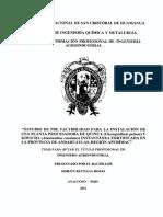 INSTALACION PLANTA DE CEREALES