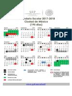 Calendario Escolar 2017 2018 195v2