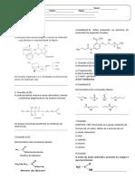 Teste turmas 3°ano Matutino Química 2017