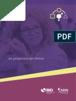 Herramientas Para La Integracion de Genero en Proyectos Del Fomin
