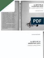 El Mito de La Argentina Laica - Catolicismo, Política y Estado - Fortunato Mallimaci