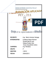 Informe Optimizacion Hidraulica Grupo # 6