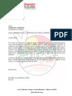 Carta Delegacion Al Comite de Convivencia Laboral