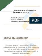 Comité y Supervisor de Seguridad y Salud en El Trabajo