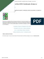 Análise Combinatória No Excel 2010_ Combinação, Arranjo Ou Permutação - Xek.mexek