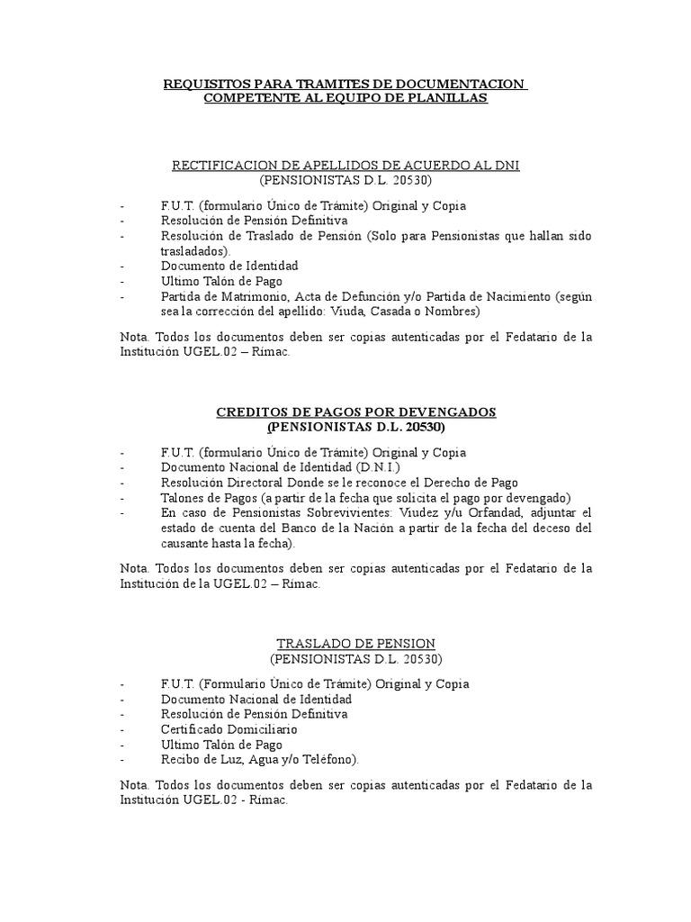 RequisitosDocumentacion Pension