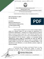 Moreno, Gustavo (AGT) - Intimacion de 24hs Ministra Acuña (Sept2017)