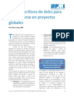 Factores Criticos de Exito Para Comunicarse en Proyectos Globales