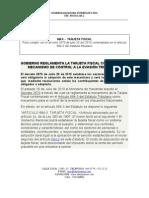 Analisis Implementacion Tarjeta Fiscal