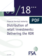 FSA_CP09_18_Distribution of Retail Investments - Delivering the RDR