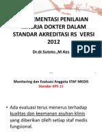 Presentasi Penilaian Kinerja Dokter
