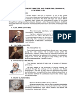 Famous Philosophers Report