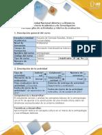 Guía de Actividades y Rubrica de Evaluación – Fase 2 Cultura Un Concepto Antropológico