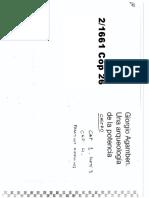 CASTRO- Agamben Una Arqueologia de La Potencia Cap 1 Parte 3 y Cap 4