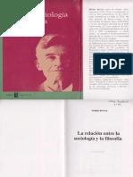 La relacion entre la sociologia y la filosofia, BUNGE Mario.pdf
