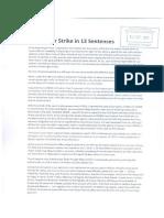 My Hunger Strike in 13 Sentences, Strassbourg, September 7, 2017.