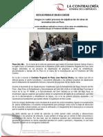 NP92-2017 | Contraloría alerta riesgos en cuatro procesos de adjudicación de obras de reconstrucción en Piura