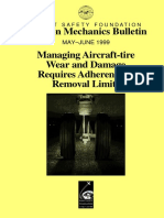 Managing Aircraft TIRE wear and Damage