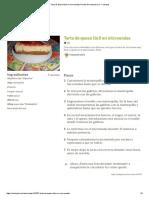 Tarta de Queso Fácil en Microondas Receta de Mequieroira - Cookpad