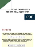 Kinematika Dengan Analisis Vektor 2