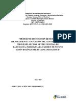 Proyecto Sustitucion, Mejoramiento y Dotacion Del Dispensario Rural Tipo i Neveri Central